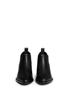 ALEXANDER WANG 'Kori' Plexiglas heel leather ankle boots