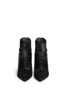 ALEXANDER WANG  'Ryan' calf hair leather ankle boots