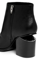 'Gabi' cutout heel leather boots