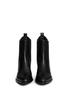 ALEXANDER WANG 'Anouck' Plexiglas heel leather ankle boots