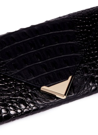 Detail View - Click To Enlarge - Alexander Wang  - 'Prisma' alligator embossed leather envelope continental wallet