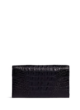 Figure View - Click To Enlarge - Alexander Wang  - 'Prisma' alligator embossed leather envelope continental wallet