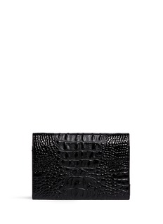 ALEXANDER WANG  'Prisma' alligator embossed leather clutch