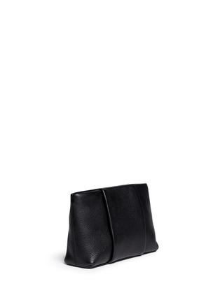 正面 -点击放大 - ALEXANDER WANG  - 'Dumbo' pebbled leather zip pouch