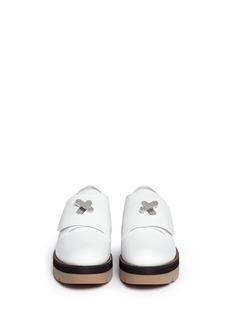 ALEXANDER WANG 'Dillion' twist lock leather platform shoes