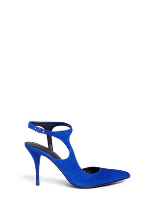 Main View - Click To Enlarge - Alexander Wang  - 'Stefania' suede ankle strap pumps