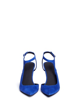 Figure View - Click To Enlarge - Alexander Wang  - 'Stefania' suede ankle strap pumps