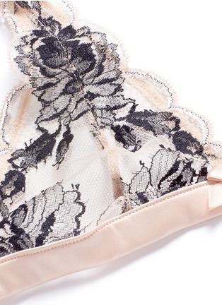 Detail View - Click To Enlarge - L'Agent - 'Dani' peony lace soft cup bra