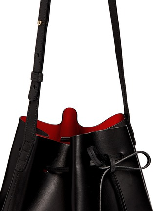 Detail View - Click To Enlarge - Mansur Gavriel - Contrast lining leather bucket bag