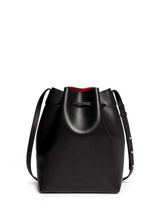 Back View - Click To Enlarge - Mansur Gavriel - Contrast lining leather bucket bag