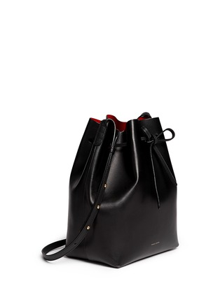 Front View - Click To Enlarge - Mansur Gavriel - Contrast lining leather bucket bag