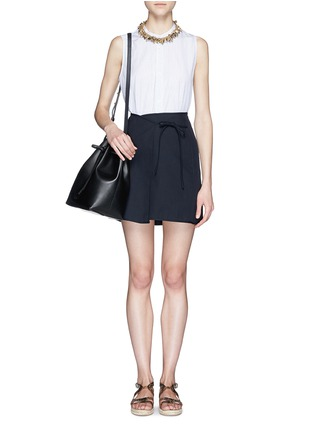 Figure View - Click To Enlarge - Mansur Gavriel - Contrast lining leather bucket bag
