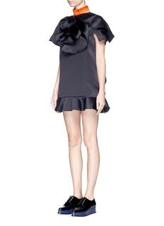 FYODOR GOLAN'Orchid Fontana' ruffle satin mini dress