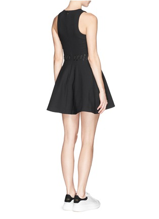Back View - Click To Enlarge - Elizabeth and James - 'Carter' lace-up waist jersey flare dress