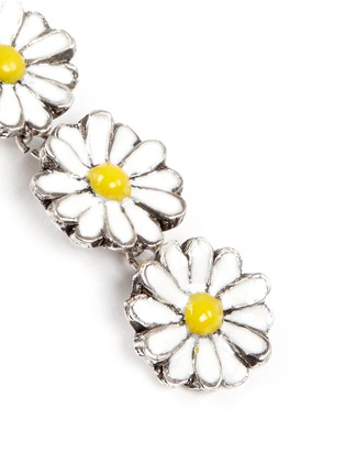 Detail View - Click To Enlarge - Philippe Audibert - 'Margueritte' daisy drop earrings