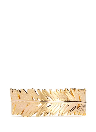 Main View - Click To Enlarge - Philippe Audibert - Palm leaf open cuff