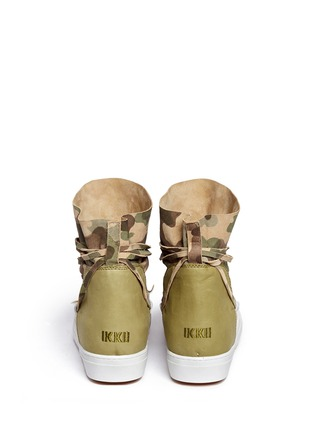 Back View - Click To Enlarge - INUIKII - 'Saomik' camouflage print suede sneaker boots