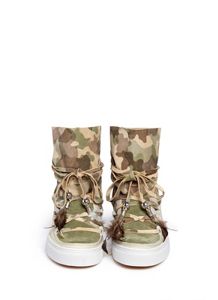 Figure View - Click To Enlarge - INUIKII - 'Saomik' camouflage print suede sneaker boots