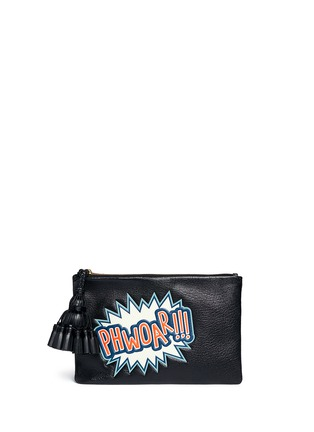 Anya Hindmarch-'Georgiana Phwoar!!' capra leather clutch