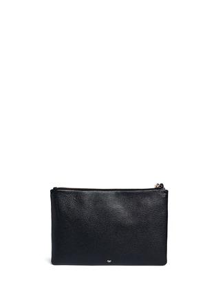 模特儿示范图 - 点击放大 - ANYA HINDMARCH - 'Georgiana Phwoar!!' capra leather clutch