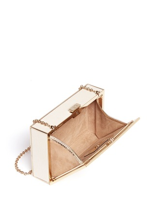 Detail View - Click To Enlarge - Anya Hindmarch - 'Imperial Yes/No' leather box clutch
