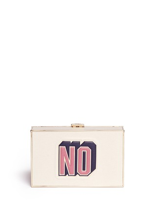 Back View - Click To Enlarge - Anya Hindmarch - 'Imperial Yes/No' leather box clutch