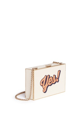 Front View - Click To Enlarge - Anya Hindmarch - 'Imperial Yes/No' leather box clutch