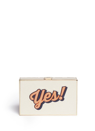 Main View - Click To Enlarge - Anya Hindmarch - 'Imperial Yes/No' leather box clutch