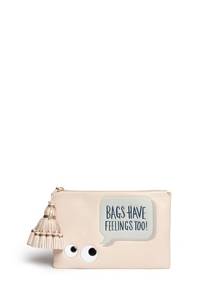 Main View - Click To Enlarge - Anya Hindmarch - 'Georgiana Bags Have Feelings Too!' capra leather clutch