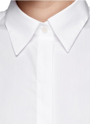 Detail View - Click To Enlarge - Acne Studios - 'Ash' sleeveless poplin shirt
