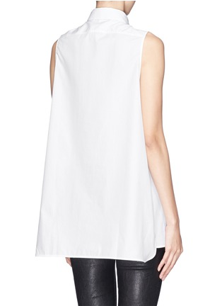 Back View - Click To Enlarge - Acne Studios - 'Ash' sleeveless poplin shirt