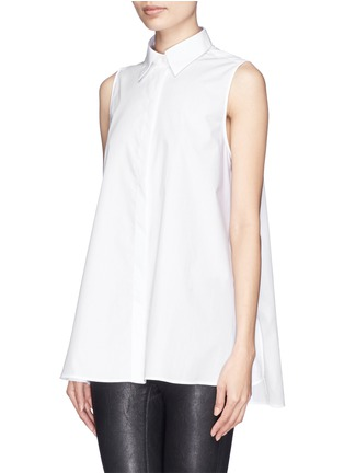 Front View - Click To Enlarge - Acne Studios - 'Ash' sleeveless poplin shirt