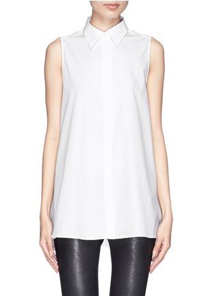 Main View - Click To Enlarge - Acne Studios - 'Ash' sleeveless poplin shirt