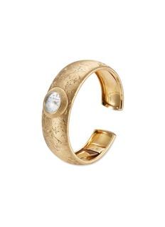 Buccellati Watches 'Penelope Lisbeth' engraved 18k yellow gold cuff watch