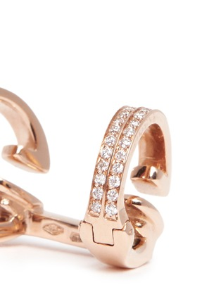 Detail View - Click To Enlarge - REPOSSI - 'Berbère' diamond rose gold 2-hoop ear cuff