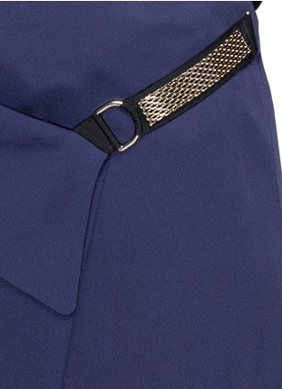 Detail View - Click To Enlarge - Lanvin - Chain strap satin wrap skirt