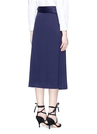 Back View - Click To Enlarge - Lanvin - Chain strap satin wrap skirt