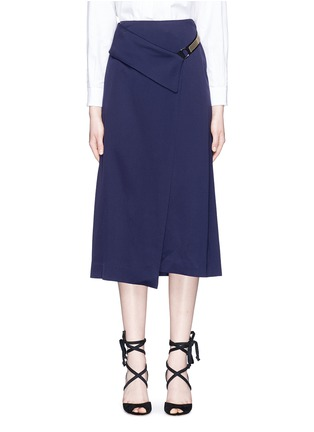 Main View - Click To Enlarge - Lanvin - Chain strap satin wrap skirt