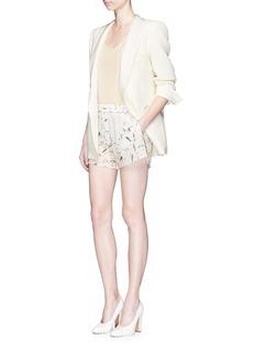 Valentino'Swallow Metamorphosis' print crepe shorts