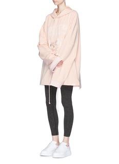 FENTY PUMA by RihannaLace-up logo print oversized fleece hoodie