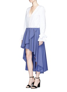 Caroline Constas 'Adelle' layered high-low flared skirt