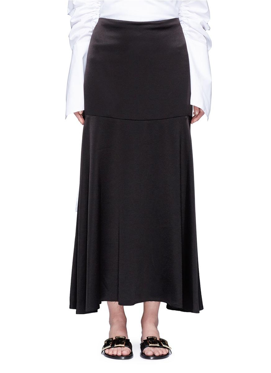 Circle Cult crepe back satin skirt by Georgia Alice