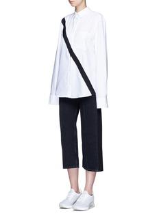 Public School'Edith' diagonal stripe Oxford shirt