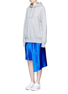 Public School'Kaleb' colourblock asymmetric pleated satin skirt