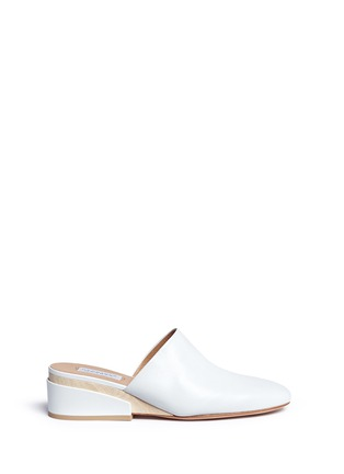 Main View - Click To Enlarge - Gabriela Hearst - 'Adele' wooden wedge leather mules