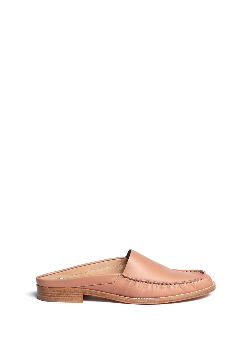 Kate leather loafer slides by Gabriela Hearst