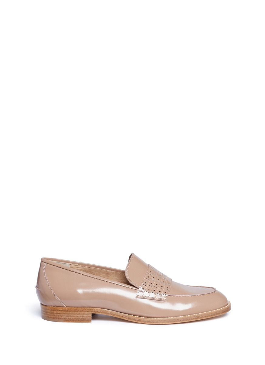 Carl perforated band leather loafers by Gabriela Hearst