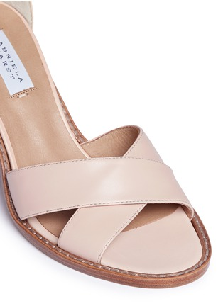 Detail View - Click To Enlarge - Gabriela Hearst - 'John' geometric print heel leather sandals