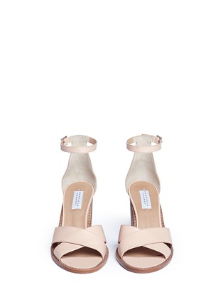 Front View - Click To Enlarge - Gabriela Hearst - 'John' geometric print heel leather sandals