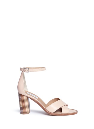 Main View - Click To Enlarge - Gabriela Hearst - 'John' geometric print heel leather sandals